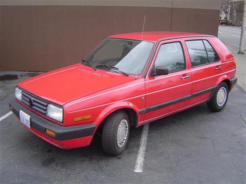 1990 Volkswagen Golf 4 Door Red