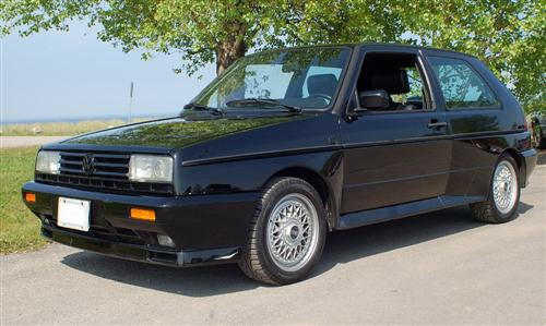 Black 1989 Volkswagen Rallye Golf Rallye Grill