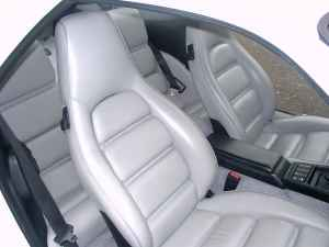 Porsche Linen White Leather Interior 928S4