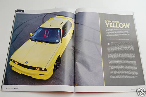 1989 BMW e30 M3 Custom S50B32 Swap Yellow Magazine Feature