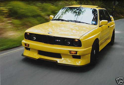 1989 BMW e30 M3 Custom S50B32 Swap Yellow Front Smoked Lights
