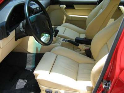 1991 BMW e34 M5 Red For Sale Leather Interior