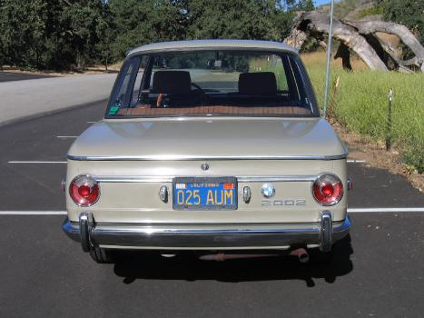 1970 BMW 2002 Blue Plate For Sale