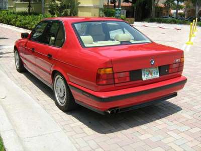 1991 BMW e34 M5 Red For Sale Rear