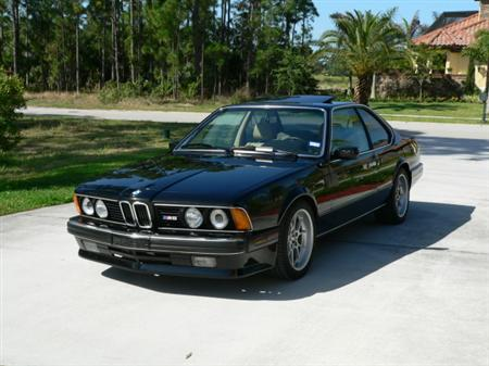 BMW e24 M6 For Sale Black on Tan