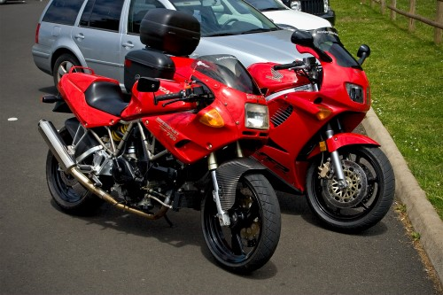 Cape Meares Ducati 750 and VFR 750