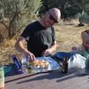 Scott preparing his famous mushroom appetizers.