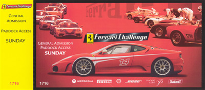 Ferrari Challenge Ticket