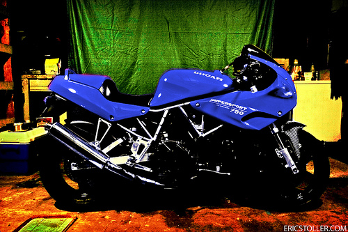 Blue Ducati SuperSport Wallpaper