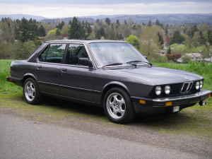 1985 BMW 535i Gray
