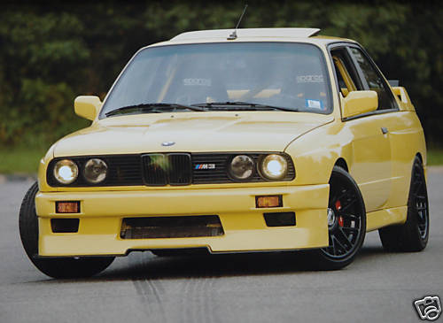 1989 BMW e30 M3 Custom S50B32 Swap Yellow