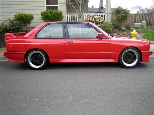 Red BMW e30 M3 For Sale PNW