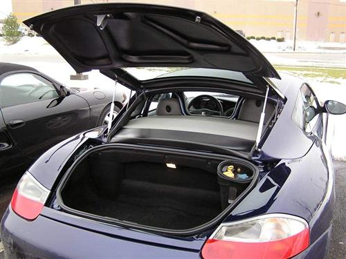 Porsche Boxster with Zeintop Hatch Open
